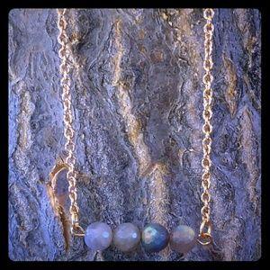 New Labradorite Quadrant 18k Mindfulness Necklace